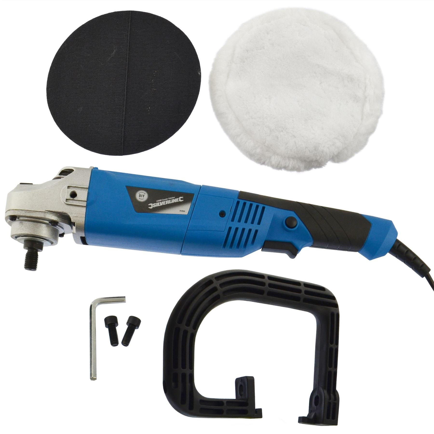AB Tools-Silverline 180mm Machine Polisher 1200W Electric Variable Speed Rotary Car Buffer SIL126 by AB Tools-Silverline (Image #2)