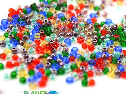 ASSORTED GREENBROWN Multi-Color BEADS 2 Seed Beads and Other Sizes For Beading Crafting /& Jewelry Making