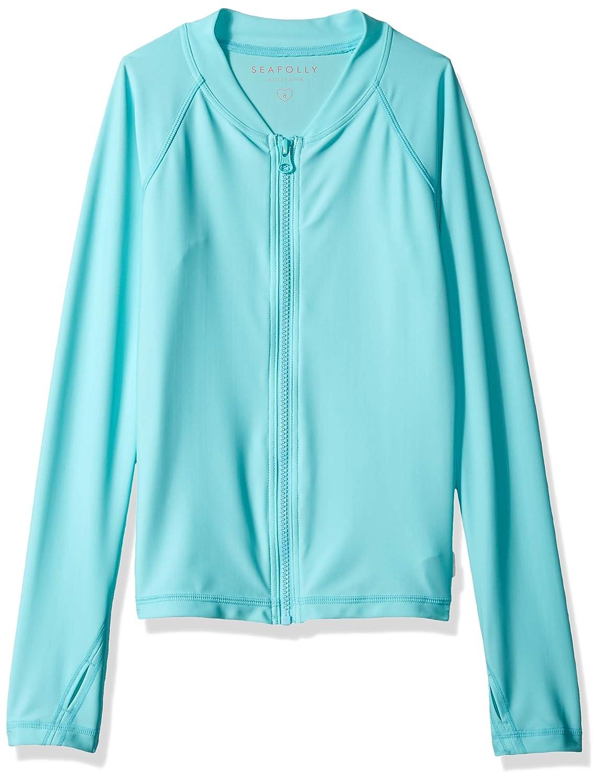 Seafolly Girls Long Sleeve Zip Front Rashguard