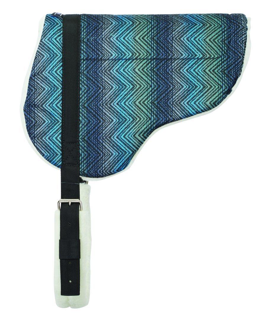 WeaverレザーHerculon Barebackパッドwith Fleece Bottom 21\ ブルー B00ZS0VMUE