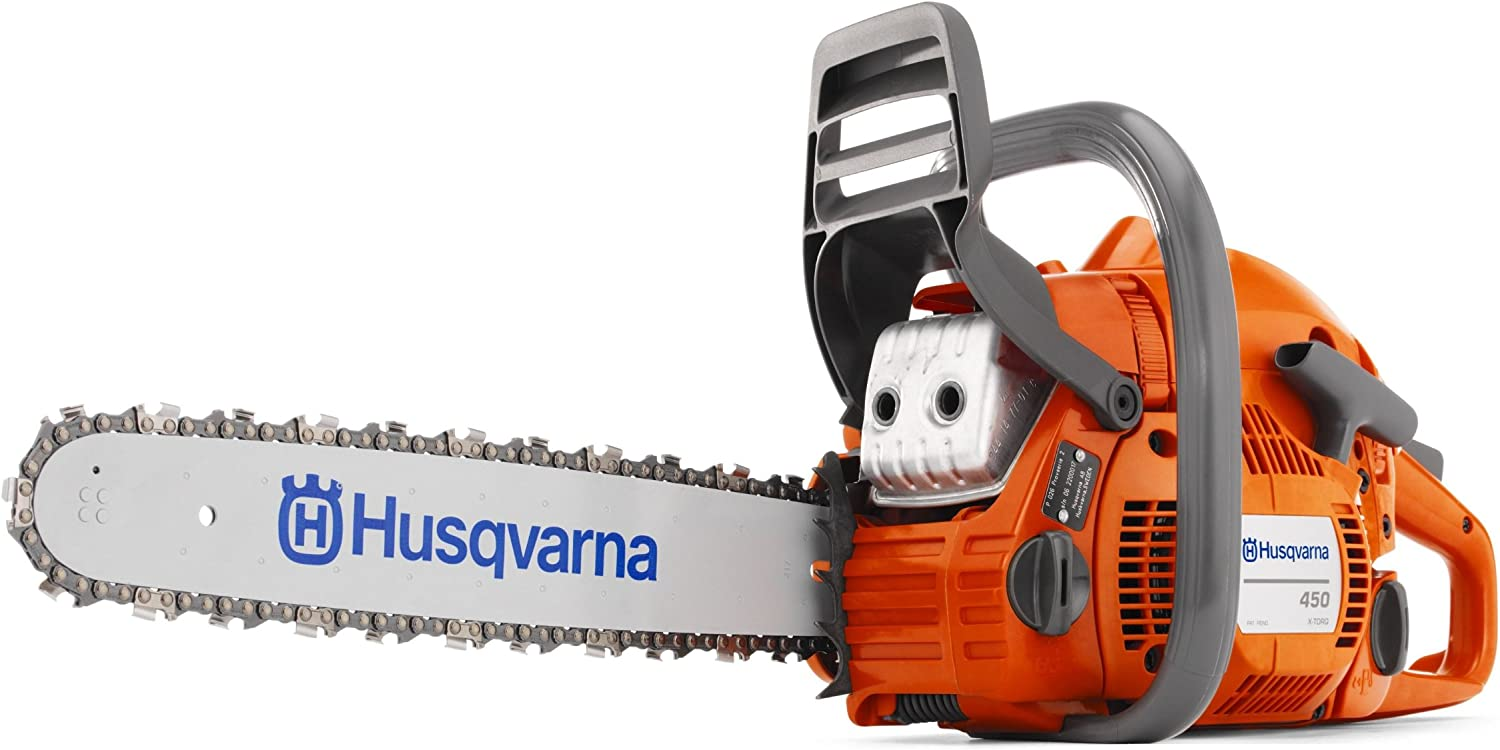 4. Husqvarna 450 18-Inch 50.2 cc X-Torq 2-Cycle Gas-Powered Chainsaw