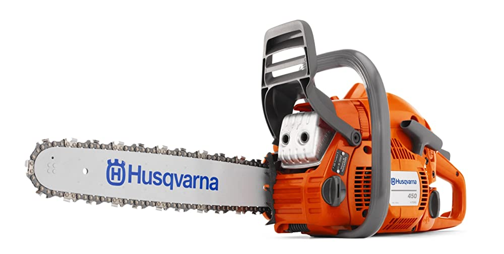 Husqvarna 450 Gas Powered Chainsaw Review