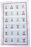 Torchon de vaisselle, 100% coton, imprimé, TRIOLINO®, motif père Noel rigolo 45x70cm