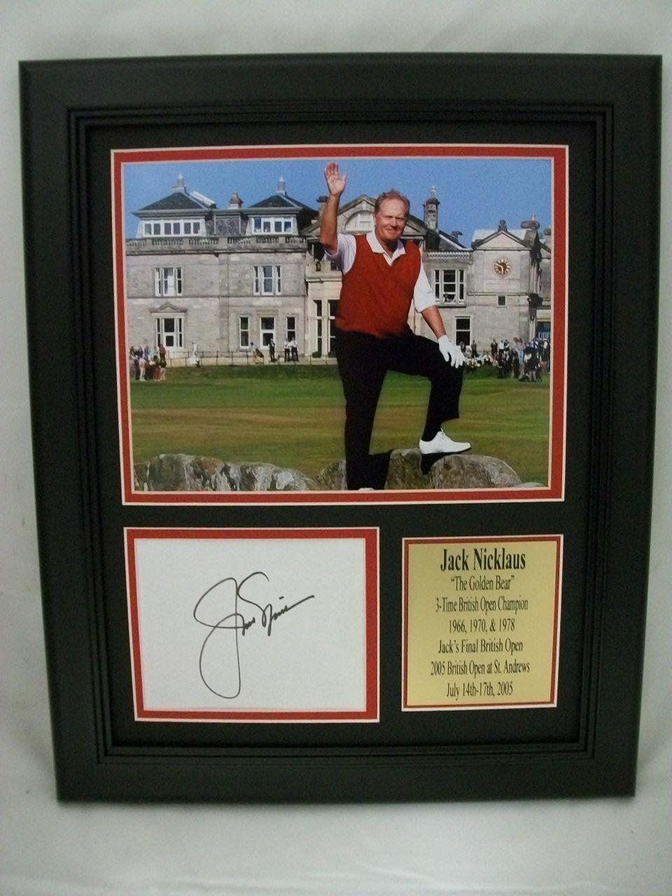 a1703c0d86af9 Jack Nicklaus Signed Photograph - 11x14 Framed Last British Open Reprint -  Golf Cut Signatures at Amazon s Sports Collectibles Store