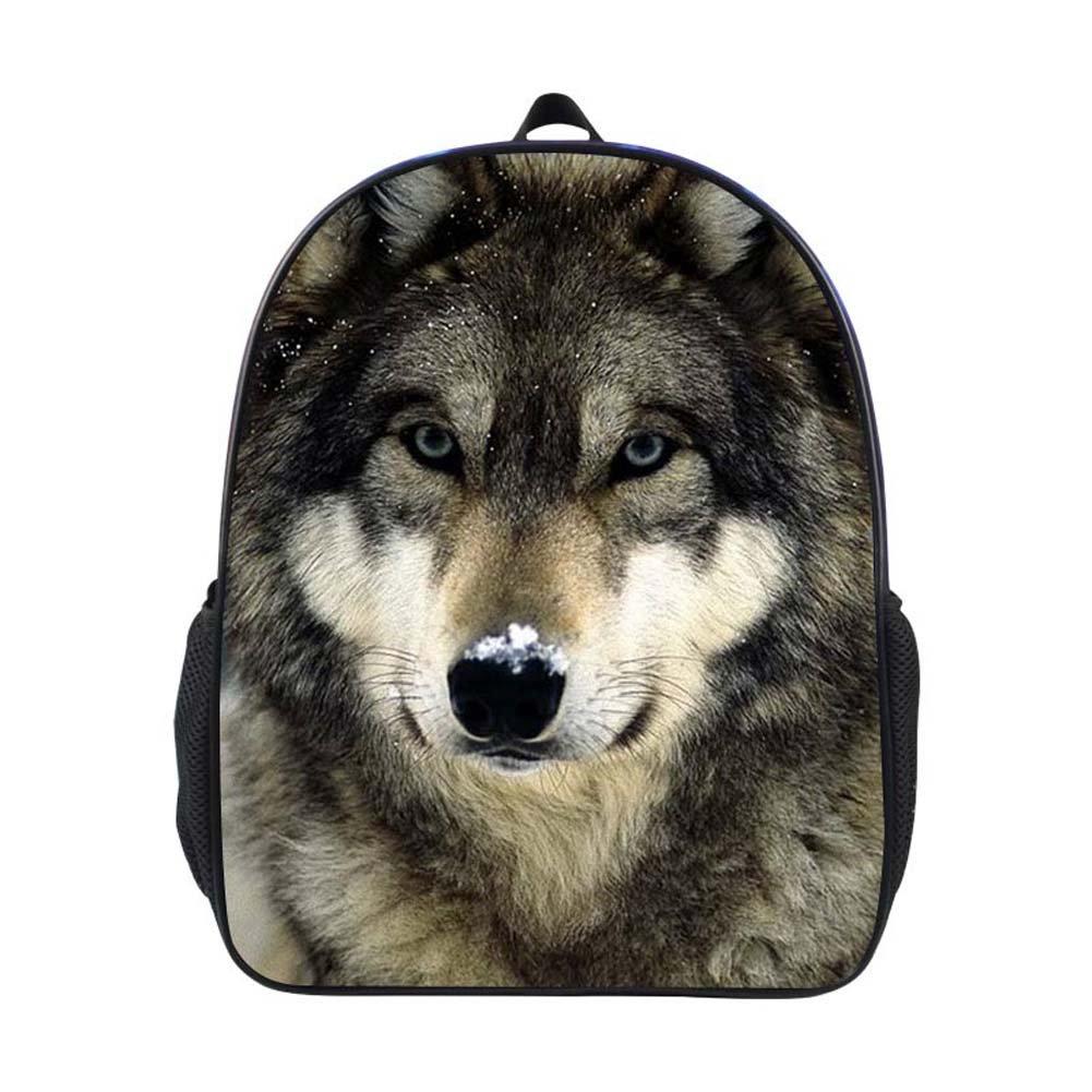 e7cbfc246c Cool 3D Animals Children School Book Bag Kids Wolf Printing Backpacks  (YHI-117)