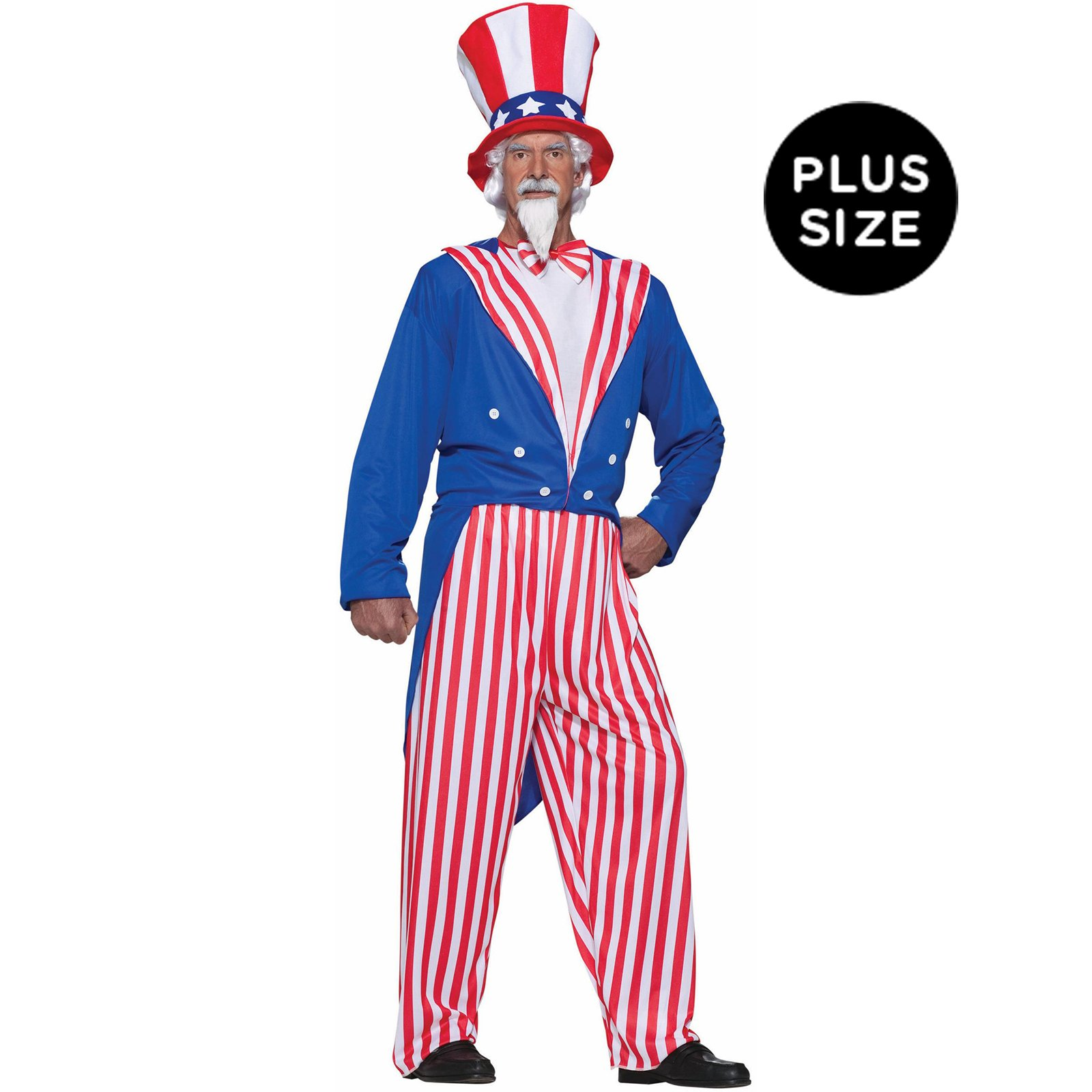 Forum Novelties Men's Uncle Sam Costume, Red/White/Blue, Plus by Forum Novelties