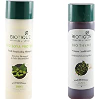 Biotique Bio Soya Protein Shampoo With Bio Thyme Conditioner (Combo Pack)