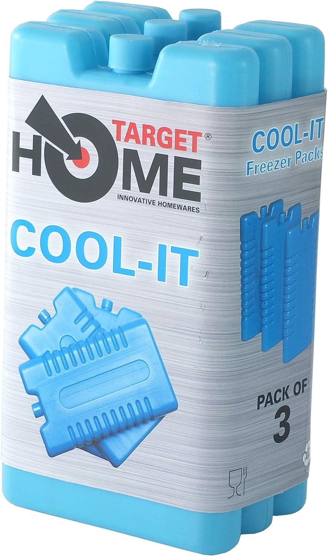 Bloques para congelador de Target Homewares® reutilizables, enfría y mantiene los alimentos frescos. Úsalos con una nevera para mayor refrigeración, 3 unidades: Amazon.es: Hogar