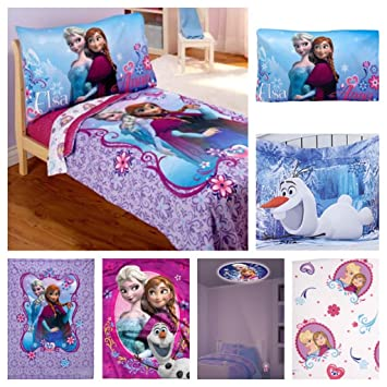 Ordinaire Disney Frozen Toddler Bed Set With Plush Throw Blanket U0026 Frozen Night Light    6 Piece