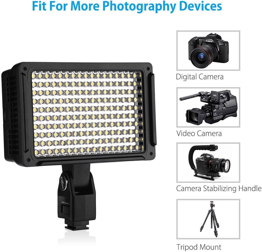 PiggiesC 170 LED Studio Video Hot Shoe Light For Canon Nikon Pentax Samsung DSLR Camera