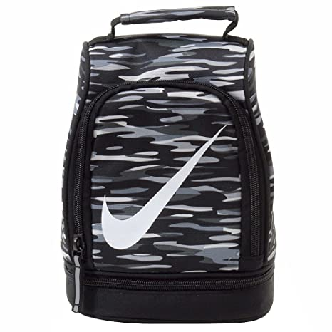 94879db0e87b Amazon.com  Nike Dome Lunch Tote Black Cool Gray White (Black Cool ...
