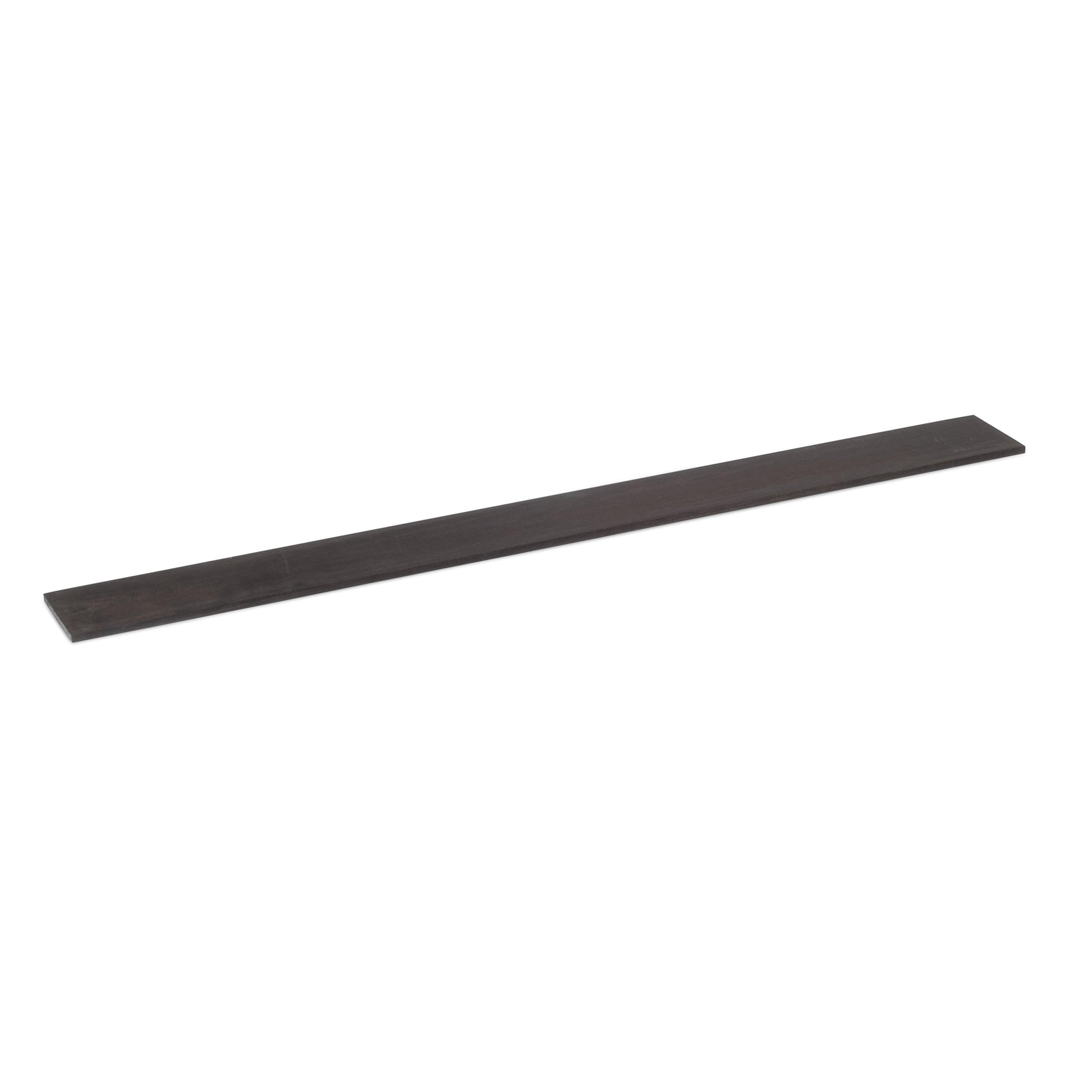 StewMac Unslotted Fingerboard for Bass, Ebony, 3'' Wide