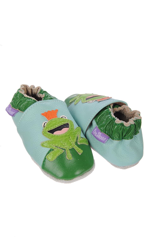 Suaves Zapatos De Cuero Del Bebé Rana Príncipe 0-6 meses ajoZa