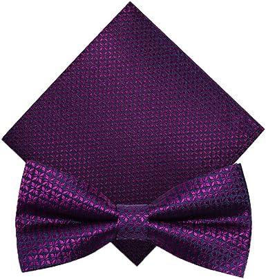 CHAOBAOBAO La Corbata De Lazo De Color Púrpura Oscuro De La Moda ...