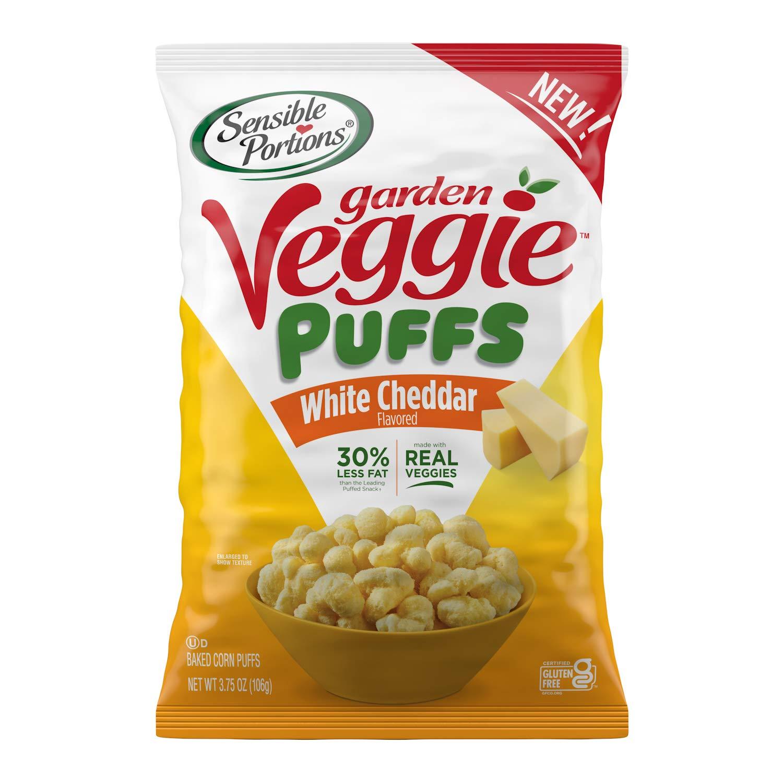 Sensible Portions Garden Veggie Puffs, White Cheddar, 3.75 oz (Pack of 6)
