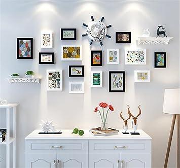 GAO® Bilderrahmen Wand Dekorative Malerei Schlafzimmer Fresken Modern  Wohnzimmer Hintergrundwand Hängende Gemälde Kombination Restaurant  Wandmalerei