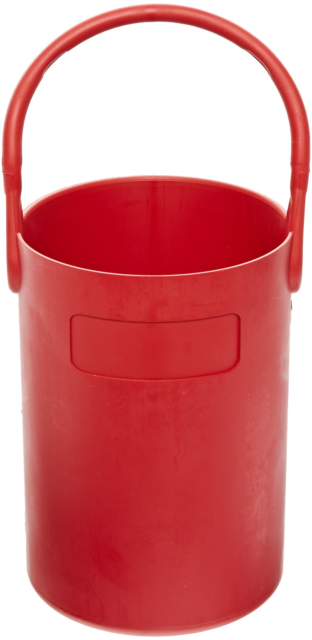 Eagle Thermoplastics B-100-1 Thermoplastic Safety Bottle Tote Carrier, Red, 10'' Height