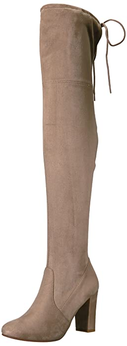 04e6f5c0159 Chinese Laundry Women s Brinna Over The Over The Knee Boot Toffee Suede 5.5  ...