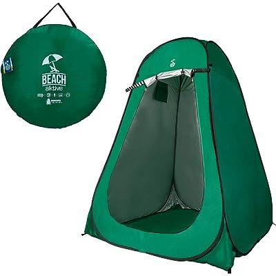 Aktive 62182 Tienda de campaña cambiador con suelo, Verde, 150x150x190 cm