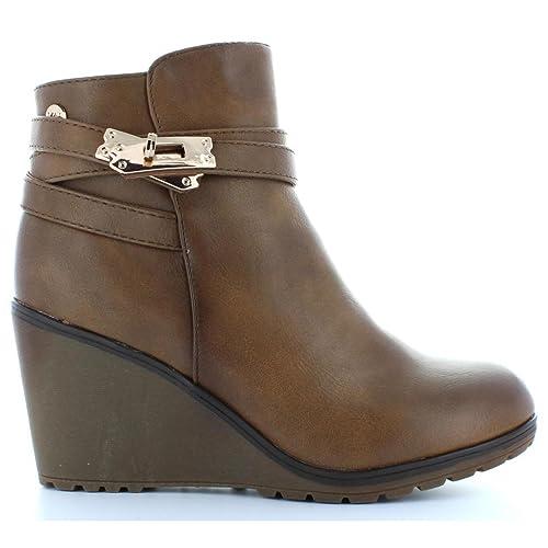 Botines de Mujer XTI 28720 C Taupe Talla 40: Amazon.es: Zapatos y complementos