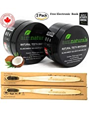 Natural Teeth Whitening Powder 2 Packs - Coconut Activated Charcoal - Effective Teeth Whitener + (2 PACK WITH BRUSH) + Tips, Tricks & Benefits Electronic Book