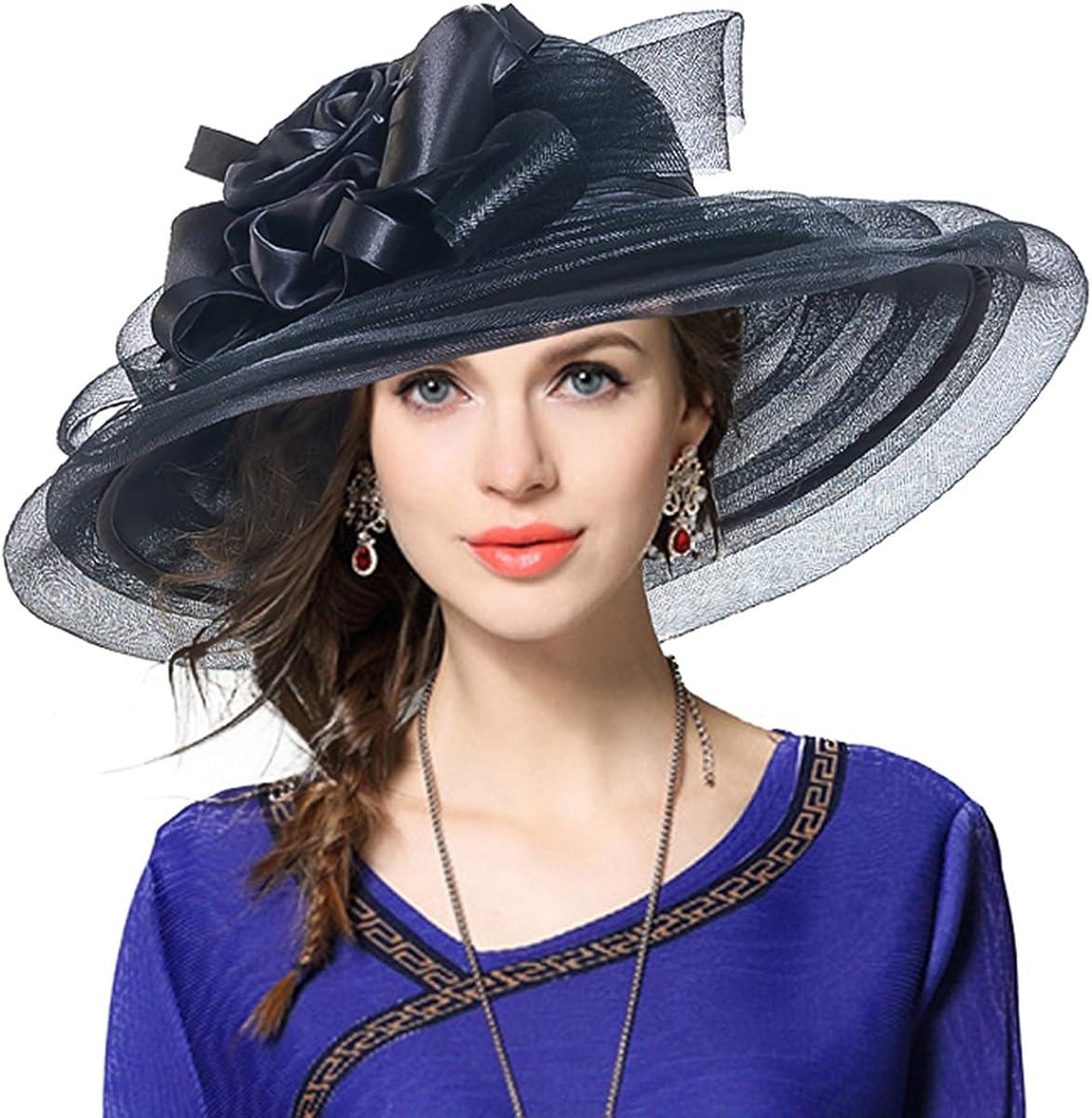 JESSE /· RENA Women Organza Church Derby Wedding Dress Tea Party Racing Hat CS019