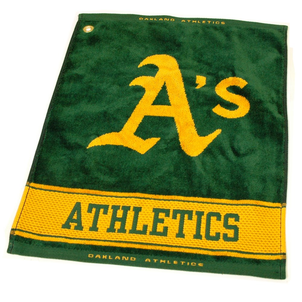 MLB Oakland Athletics Jacquard Woven Golf Towel