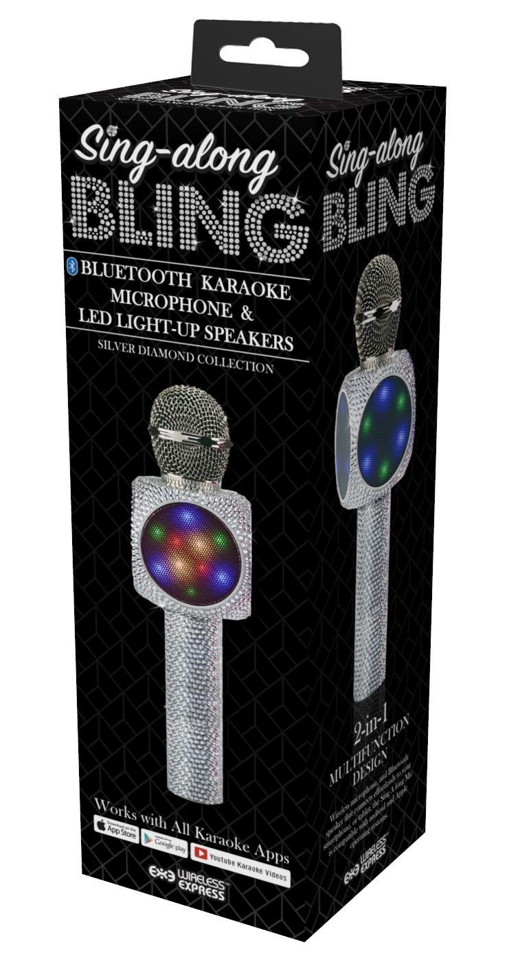 Wireless Express Sing-Along Bling Bluetooth Karaoke Microphone and Bluetooth Stereo Speaker All-in-One by Wireless Express (Image #3)