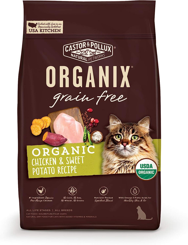 ORGANIX Grain Free Organic Chicken & Sweet Potato Recipe Dry Cat Food - 3 lb. Bag