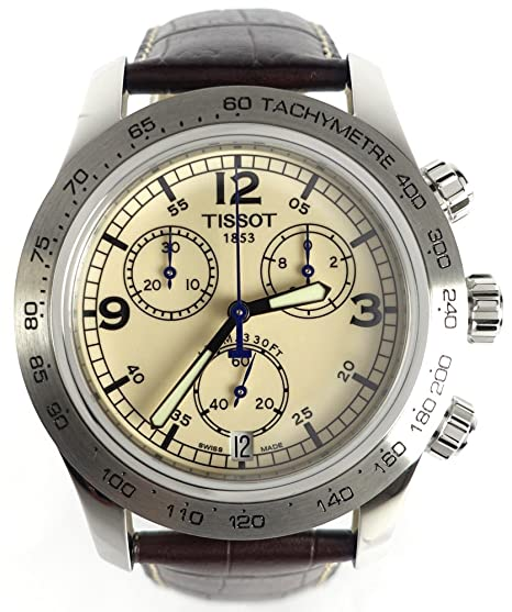 8b5d23d6327 Tissot V8 Steel Chronograph Brown Mens Watch T36.1.316.72  Tissot   Amazon.ca  Watches