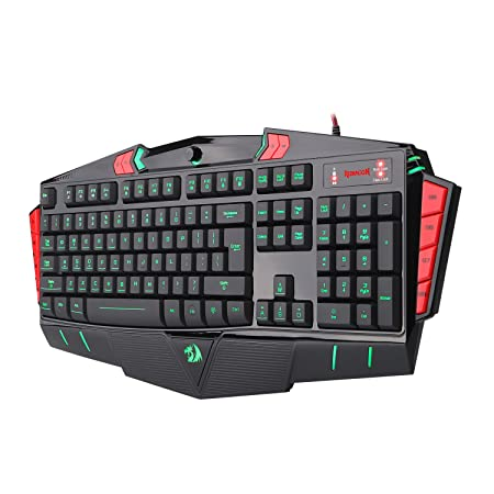 Redragon Asura K501 USB Gaming Keyboard, 7 Color Backlight Illumination, 116 Standard Keys Gaming Keyboards