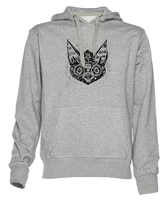quirópteros - Murciélago Unisexo Sudadera con Capucha Hombre Mujer Pullover Jersey Tamaño XXL Unisex Men Women Hoodie Sweatshirt Grey Size XXL: Amazon.es: ...