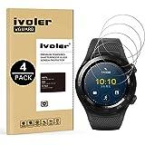 iVoler [4 Pack] Pellicola Vetro Temperato per Huawei Watch 2 [Garanzia a Vita], Pellicola Protettiva, Protezione per Schermo