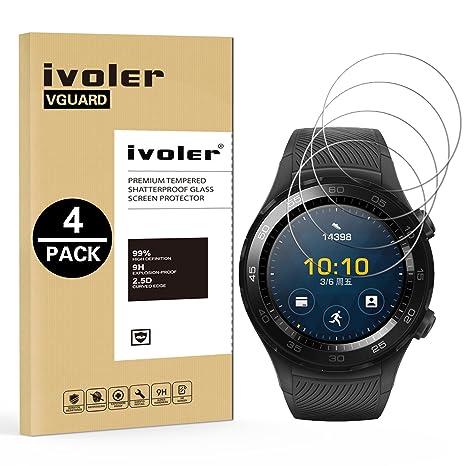 iVoler [Pack de 4] Verre Trempé pour Huawei Watch 2, Film Protection en Verre trempé écran Protecteur vitre: Amazon.fr: High-tech