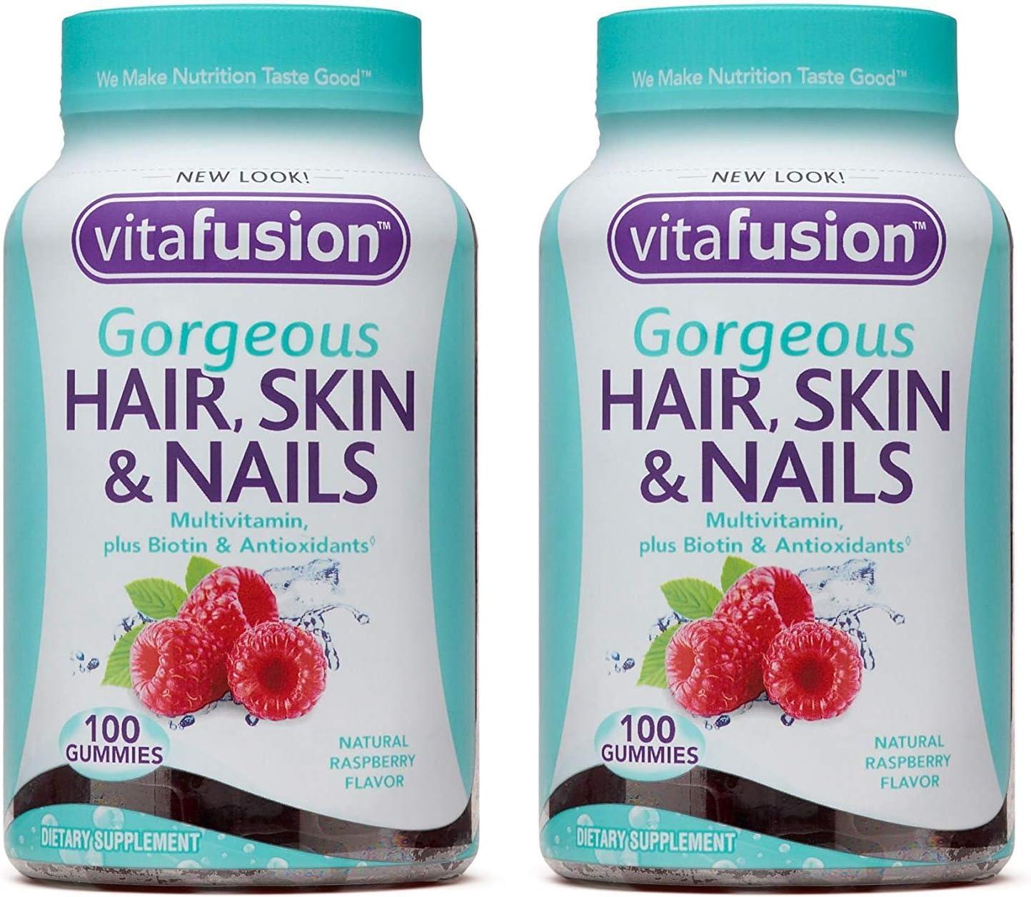 Vitafusion Gorgeous Hair, Skin & Nails Multivitamin, 12 Count