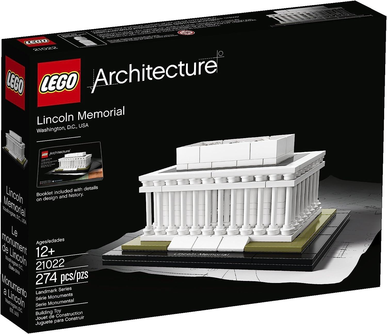 LEGO Architecture Lincoln Memorial Niño/niña 274pieza(s) Juego de construcción - Juegos de construcción (12 año(s), 274 Pieza(s), Niño/niña, Arquitectura, 12 cm, 9 cm): Amazon.es: Juguetes y juegos