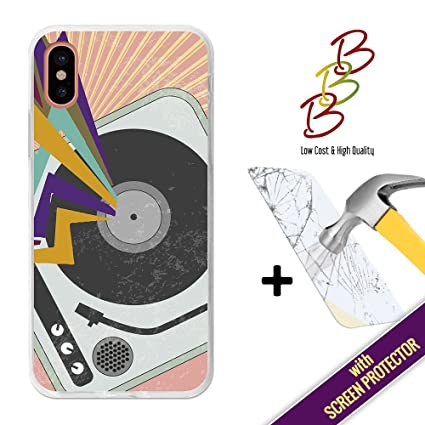 3B Funda Gel para iPhone X, [+1 Protector de Pantalla Cristal ...