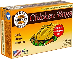 True Liberty Bags Chicken 10 Pack All Purpose Home and Garden Bags, Clear