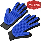 Volo Products Improved Pet Grooming Glove - Deshedding Glove - Brush Glove - Pet Hair Remover - 1 Pair
