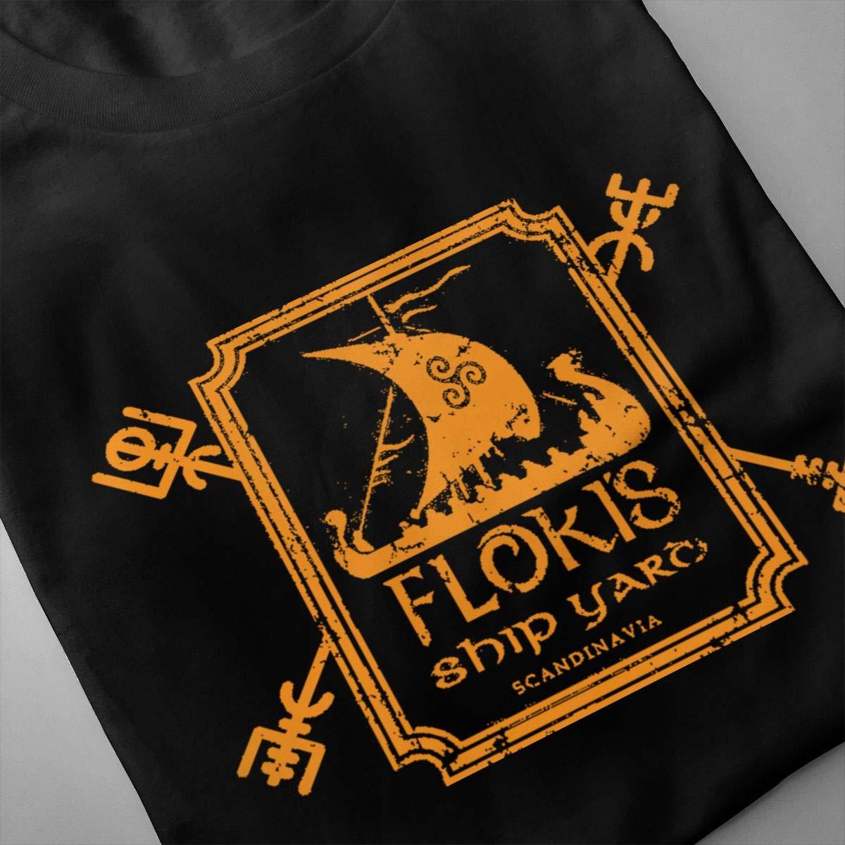 Marsherun Men Flokis Ship Yard Sport Short Sleeve T-Shirts