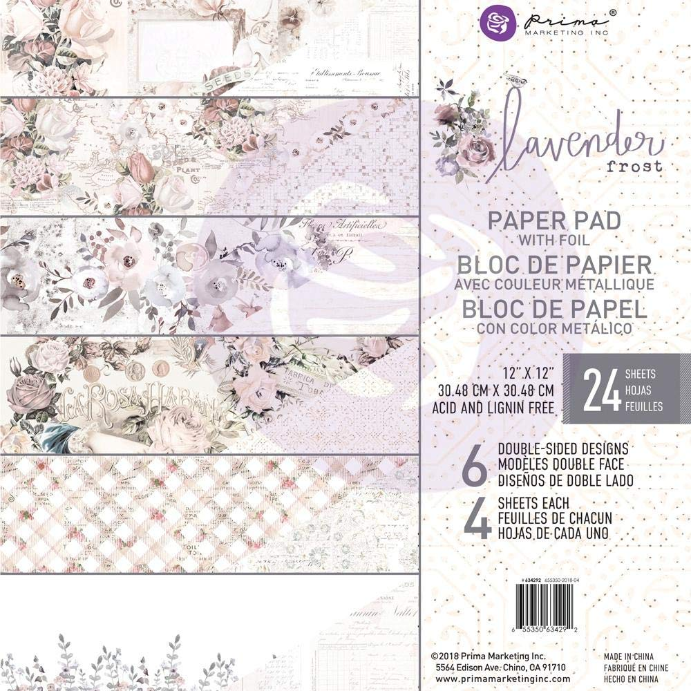 Prima Marketing - Lavender Frost -12 x 12 Paper Pad by Prima Marketing