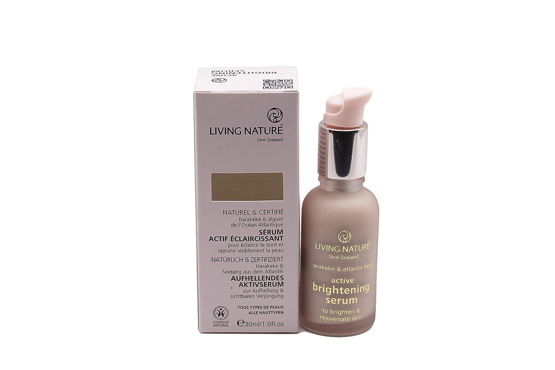 Living Nature Active Brightening Facial Serum|Rejuvenate Skin-Lighten and Minimise Pigmentation-Boost Collagen-Soften Fine Lines and Wrinkles - 100% Natural