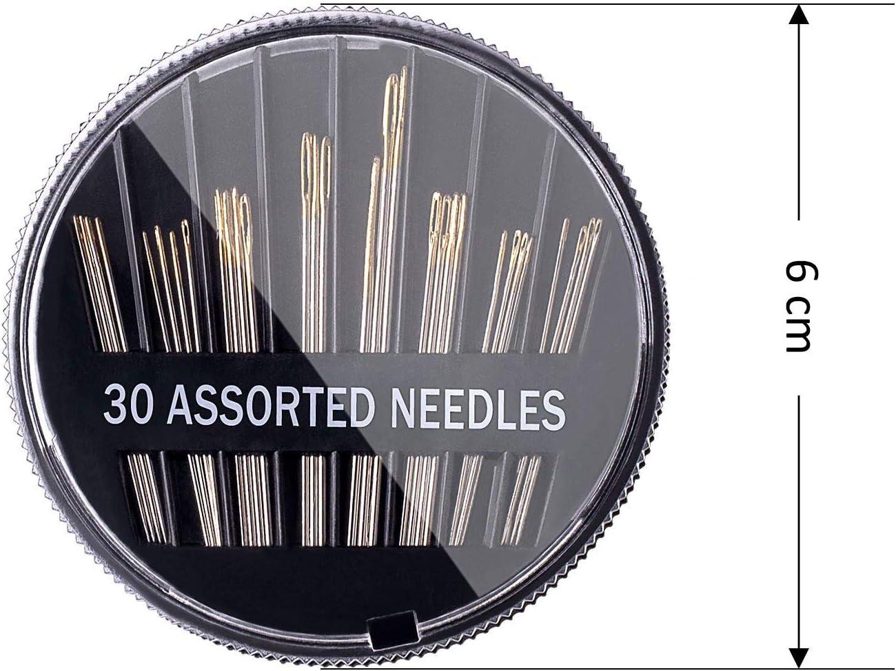 set di aghi da cucito per rammendare 150 pezzi di misure assortite con astuccio Aghi da cucito a mano