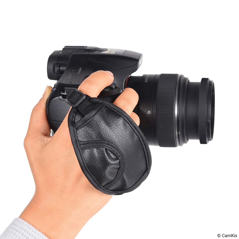 Cavetto Universale Connessione Cinghia per Mano Forte CamKix Kit Cinghie 3-in-1 per DSLR e Fotocamere Compatte Duraturo e Sicuro Imbottitura Confortevole-Regolabile Polso e Collo
