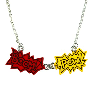 The Funky Barcode Superhero Boom Pow Necklace Gift Box Available