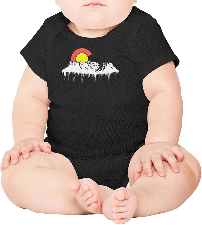 Baby Onesies Boulder Mountain Colorado Flag C 100/% Cotton Newborn Baby Clothes Cute Short Sleeve Bodysuit