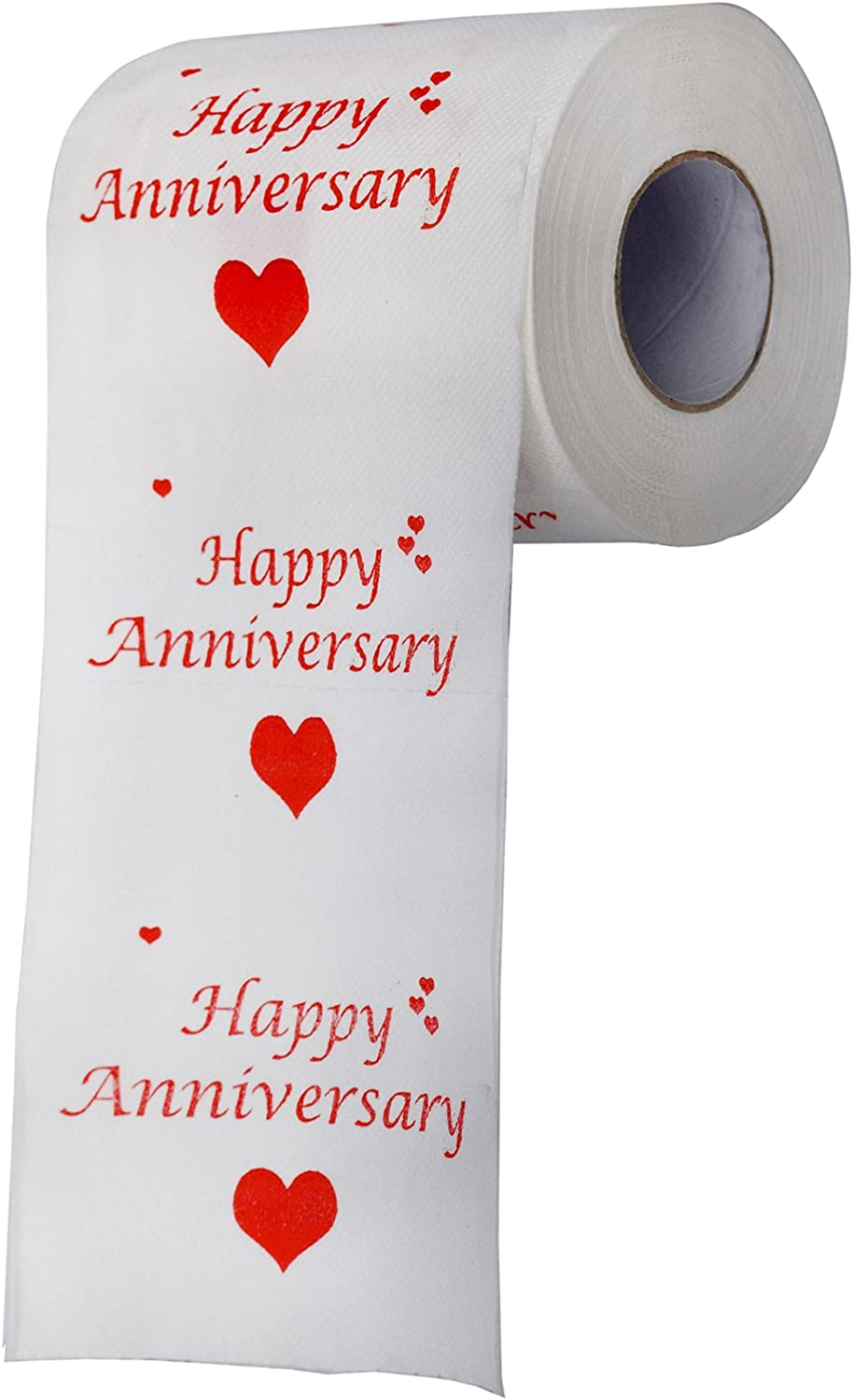 Happy Anniversary Toilet Paper Roll-Funny Gift for Him or Her Men Women.