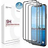 iPhone XS max Screen Protector, [3pezzi] Basstop 3D copertura completa con pellicola proteggi schermo in vetro temperato con [9H durezza] [Crystal Clear] [trasparente] [resistere ai graffi] installazione per iPhone XS max
