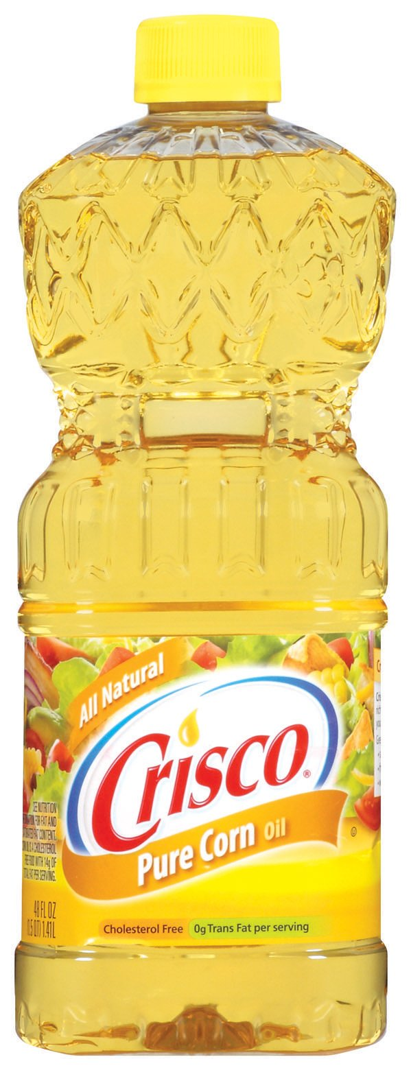 Crisco Pure Corn Oil, 48-Ounce (Pack of 3) by Crisco