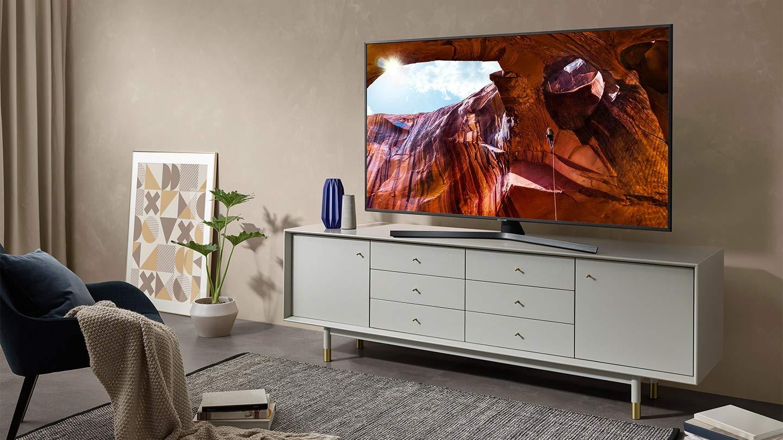 3840 x 2160 Pixels Esclusiva , Samsung UE55RU7450UXZT Smart TV 4K Ultra HD 55 Wi-Fi DVB-T2CS2 Argento Silver Serie RU7450 2019